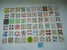 Sandylion sticker squares mods modules LOT A 60 fuzzy glow dark vintage rare