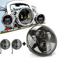 7 Zoll LED Scheinwerfer + 4,5 Zoll Passing Nebelscheinwerfer für Harley Davidson