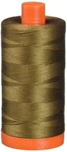 Aurifil Mako Cotton Thread 50 Weight 1422 Yd Spool Color 2372 Dark Antique Gold