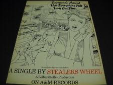 STEALERS WHEEL Joe Egan and Gerry Rafferty RARE Promo Poster Ad EVERTHING...FINE