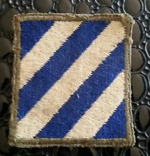 Patch US 3rd infantry division Normandie - Green backing - WW2- 100% ORIGINAL