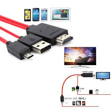 For Android Phones MHL Micro USB to HDMI 1080P HD TV Cable Adapter Red