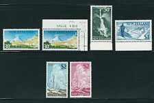 NEW ZEALAND 1967-70 Decimal high values GEYSER GLACIER etc (Sc 399-404) VF MNH