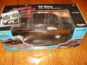 ERTL 1/18 AMERICAN GRAFFITI 1955 CHEVY SIGNED BY CINDY WILLIAMS (LAURIE)