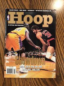 February 98 NBA HOOP Magazine w/ Shaquille O'Neal/Bill Walton + Bulls Poster-HOF