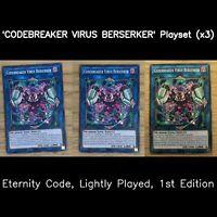 3 x ETCO-EN051 Codebreaker Virus Berserker Common 1st Edition NM