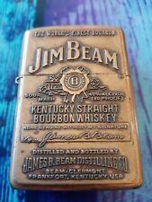 Solid Brass ZIPPO JIM BEAM 2005 used fully working original insert (no box)