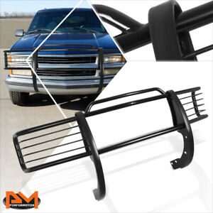 For 88-99 Chevy/GMC C/K GMT400 Front Bumper Brush Grill Guard Protector Black