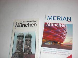 """2 X Merian-Reiseführer """"MÜNCHEN"""" / Paperbacks 1985 + 2009,  2.+3. Auflage"""