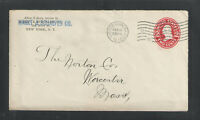 1910 MARKT & SCHAEFER CO NEW YORK NY ADVERTISING COVER US SC # U411