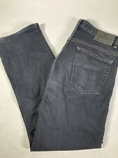 CANALI 1934 Faded Black Denim Jeans Casual Pants Men's 32 x 30