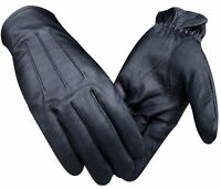 REAL GOAT SKIN LEATHER DRIVING FASHION DRESS GLOVES SOFT & TOP QUALITY BLACK