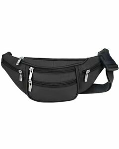 Premium Cowhide Leather Waist Fanny Pack Shoulder Bag For Men Women