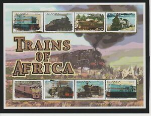 Uganda Trains of Africa Sheets & S/S's MNH Scott 1675-1679
