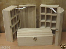 3 x Plain Treasure Chest MEDIUM caselle Trinkets gioielli DECOUPAGE