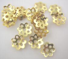 LOT de 450 PERLES coupelles FLEURS caps DOREES 6mm SANS NICKEL bijoux