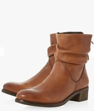 DUNE BROWN SLOUCH ANKLE BOOTS SIZE 5/38 Worn Twice Similar To Current Seasons