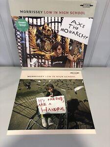 "Morrissey LP  Low In High School (sealed)  Green vinyl & 12"" Art card"