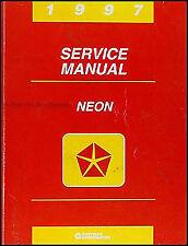 1997 Plymouth Dodge Neon Shop Manual Original OEM Repair Service Book Highline