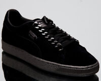 Puma Suede Classic x Chain Men New Black Lifestyle Sneakers 367391-01