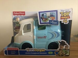 Little People Disney Toy Story 4 Jessie's RV Campground Playset with 2 Figures