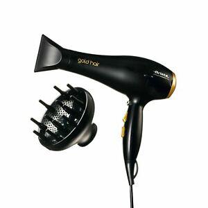 Phon Asciugacapelli Professionale Originale Gold Hair 8135 ARIETE -