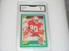 Jerry Rice GRADED CARD!! 1989 Score #221 San Francisco 49ers HOFer! 8%