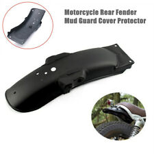 Black Metal Universal Motorcycle Rear Fender Mud Guard Cover Protector Accessory
