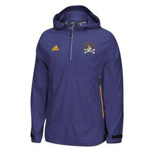 East Carolina Pirates NCAA Adidas Purple Modern Varsity Anorak 2.0 Woven Jacket