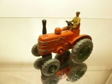DINKY TOYS 301 FIELD MARSHALL TRACTOR  - ORANGE+GREEN - GOOD CONDITION