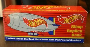 Hot Wheels Blimp Replica Bank Limited Edition Stock #407000