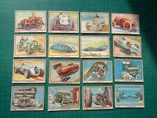 Chromos chocolat Jacques - 82 pièces - autos, avions et marine de guerre - 1939