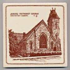 Croton on Hudson NY Asbury Methodist Church Ceramic Trivet - Mosaic Tile Co.