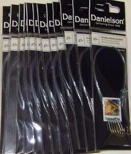 """Danielson SZ 2 Octopus Snell Snelled Hooks 12 packs Snelled Hooks NEW & FRESH 7"""""""