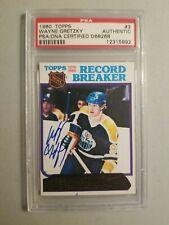 Autographed 1980 Topps #3 Wayne Gretzky PSA/DNA Certified