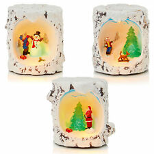 Decoración Navidad - LED Invierno Escena - Árbol Tocón Aspecto - Elegir Diseño