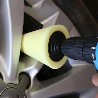 Car Wheel Hub Care Polishing Sponge Cone Metal Foam Pad Polish Tool 6MM Shank