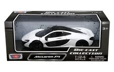 MOTOR MAX 1/24 SCALE MCLAREN P1 WHITE & BLACK DIECAST CAR MODEL 79325WH