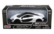 MOTOR MAX 1/24 SCALE MCLAREN P1 WHITE & BLACK DIECAST CAR MODEL 79325WH