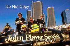 Ayrton Senna JPS Lotus 98T Winner Detroit Grand Prix 1986 Photograph 1