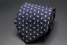 RALPH LAUREN Purple Label Tie. Blue w Pink & Gray Geometric. Hand Made England.