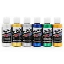 Createx Colors Airbrush Paint Pearlized Set 5804-00 - 6 Colors - 2 oz