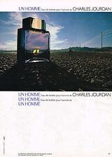 PUBLICITE ADVERTISING 114  1980  UN HOMME  eau de toilette CHARLES JOURDAN