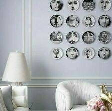 Fornasetti-inspired vintage plates dish wall hanging home decor Lina Cavalieri
