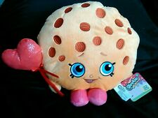 "Shopkins Kooky Cookie Plush 11"" Just Play Valentine Red Heart Balloon NWT"
