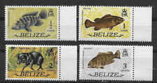 BELIZE ,1974 , FISH , SET OF 4 STAMPS , PERF , MNH