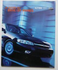 NISSAN ALTIMA 2000 dealer brochure - French - Canada - ST1002000918