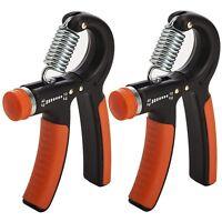 Set of 2 Adjustable Hand Gripper Strengthener By xFitness