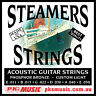 STEAMERS CUSTOM LIGHT Gauge ACOUSTIC GUITAR STRINGS, USA MADE, NEW, FREE POSTAGE