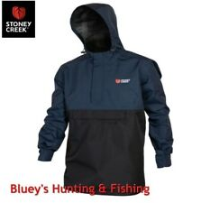 Stoney Creek Mens Hunting outdoor rainware stowit Navy/Black jacket ;9314